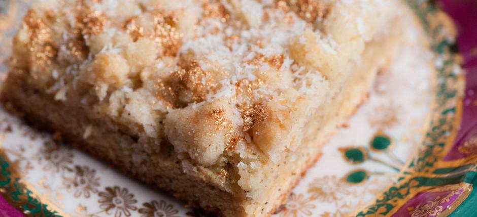 Kokos-Mohn-Streuselkuchen